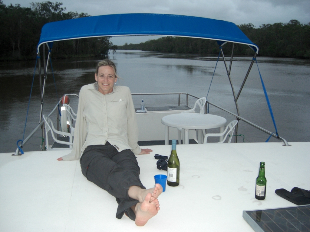 First night's happy hour on the Happy Jack