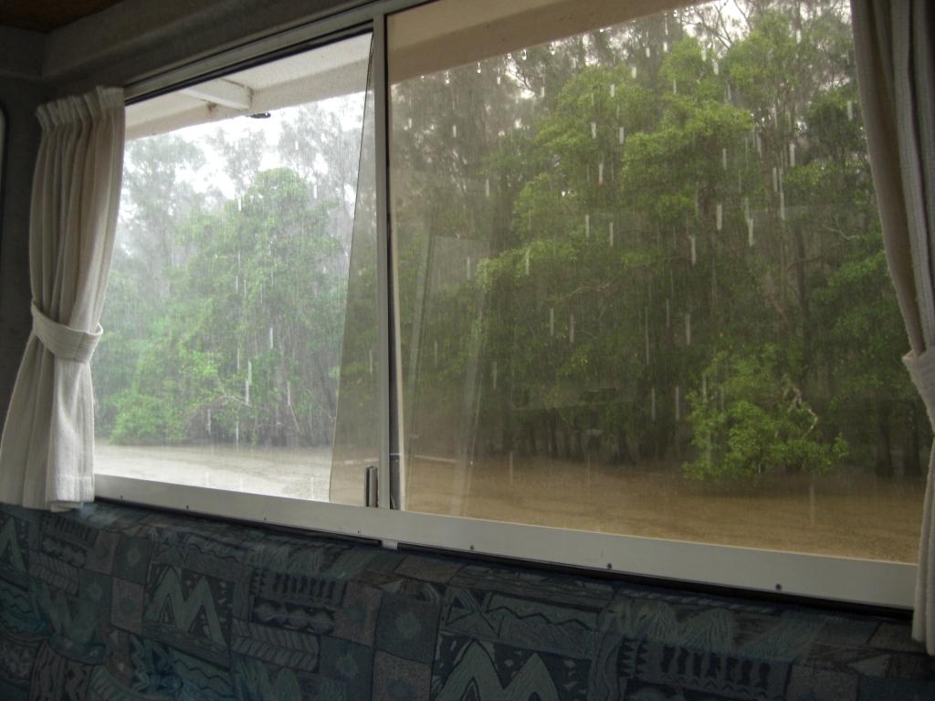 Rain on the Noosa River