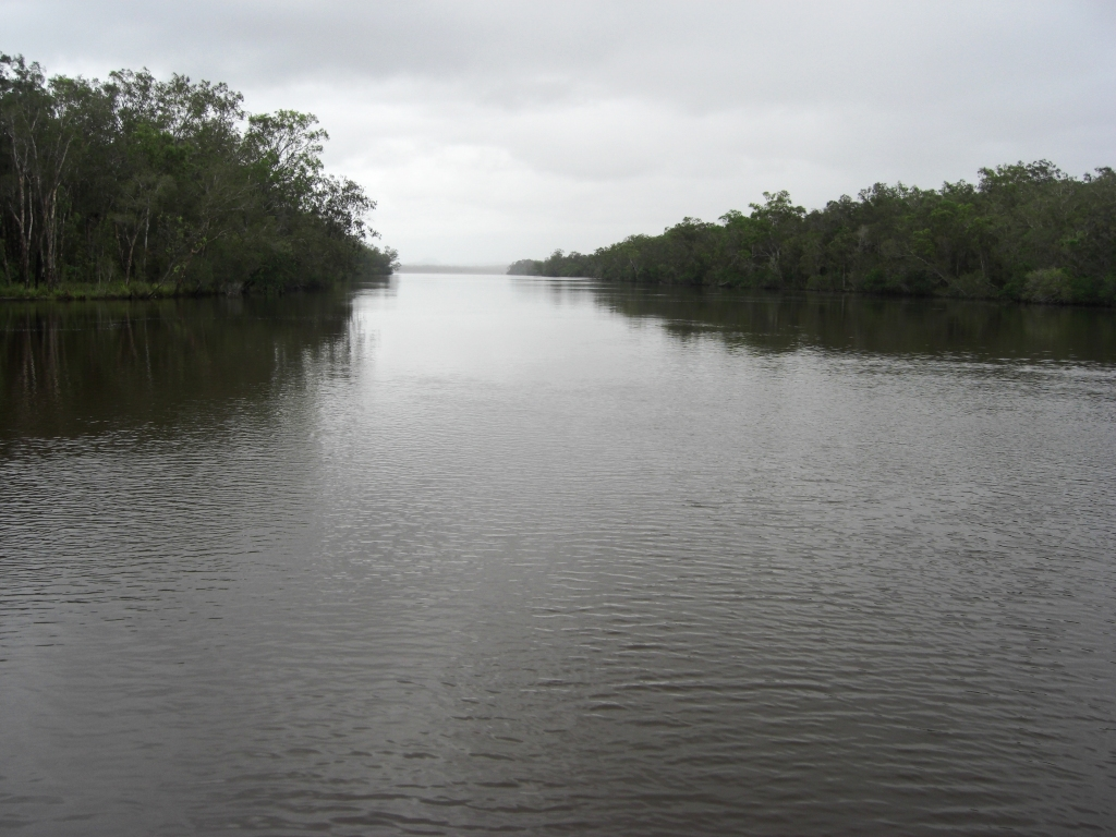 The Noosa River not under siege from the rain