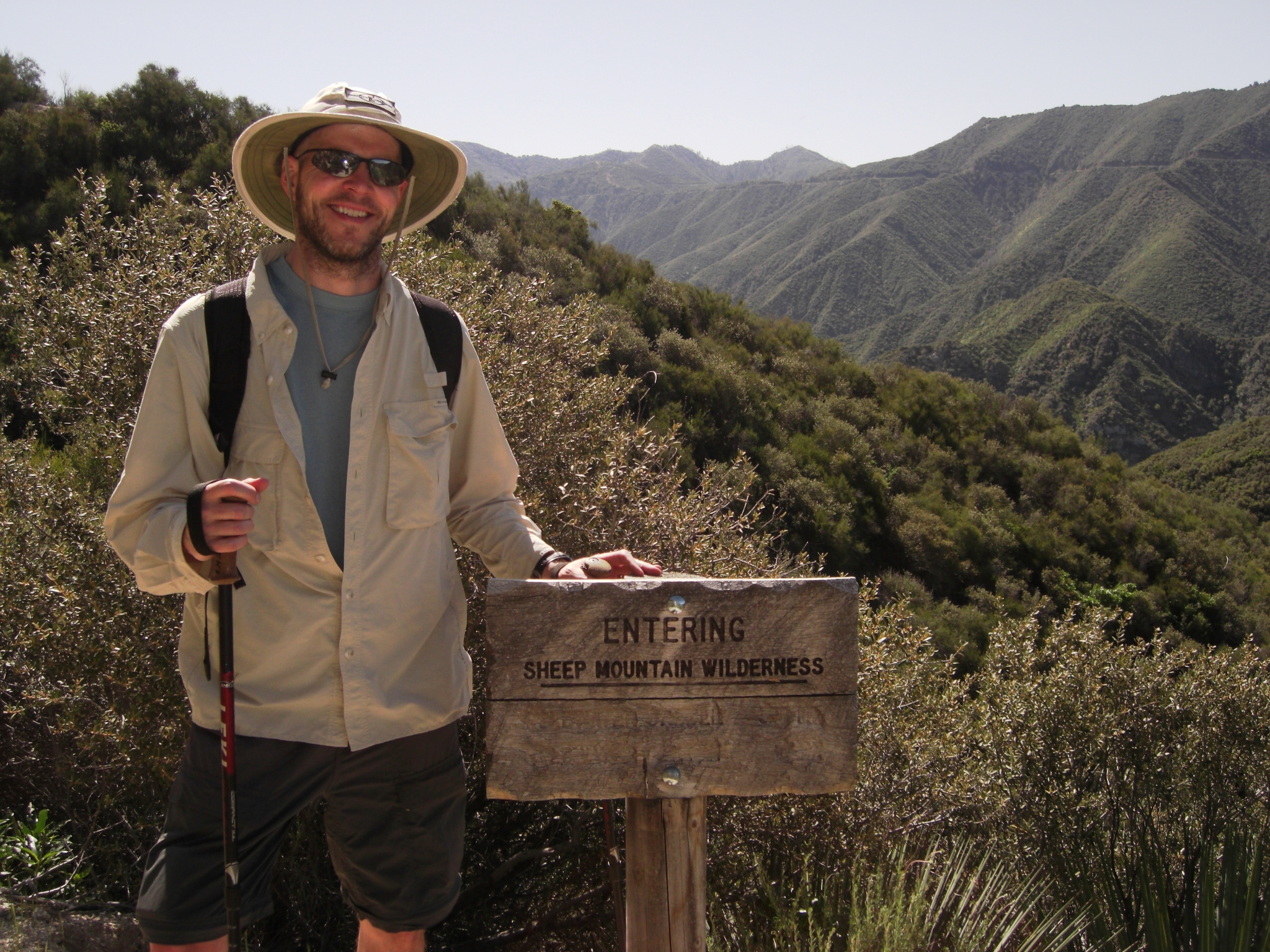 Crossing over from Angeles National Forest to Sheep Mountain Wilderness.