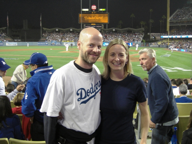 Barb and Emmett at Dodgers Stadium