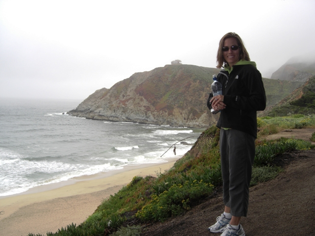 Nan above Gray Whale Cove Beach