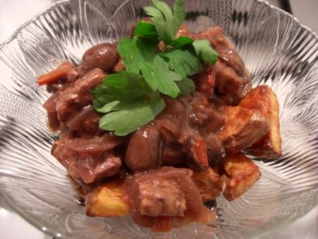 Tempeh and Mushroom Bourguignon