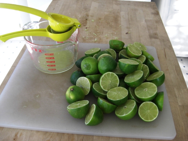 Juicing limes