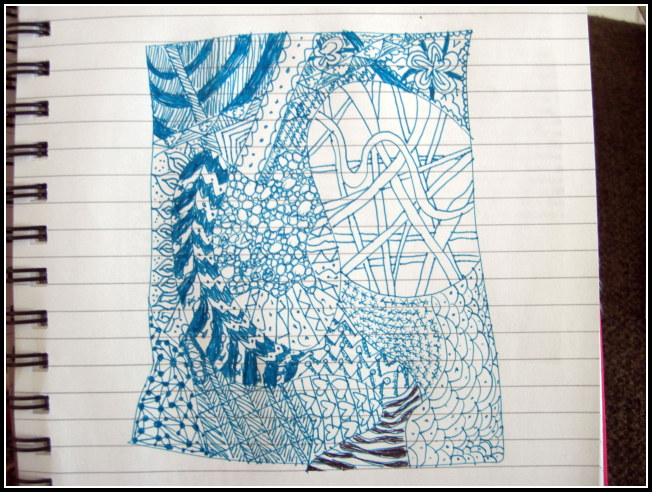 My first Zentangle.