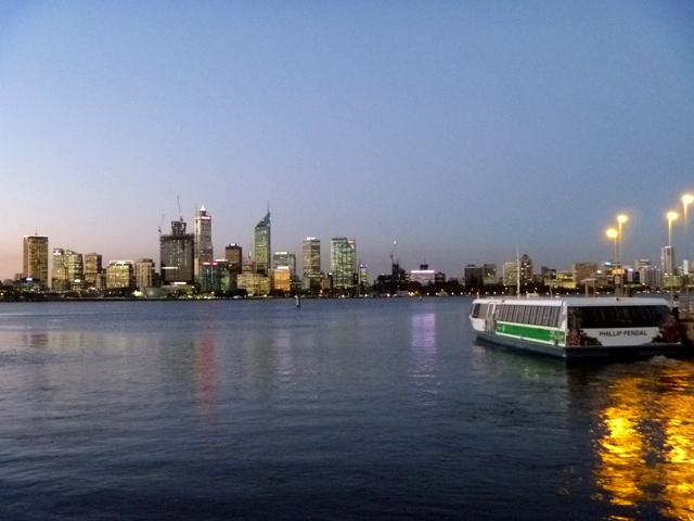 Sun setting on Perth
