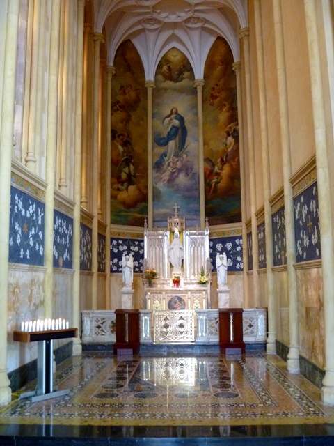 Side altar at St. Mary's