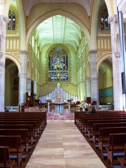 The main altar at St. Mary's.