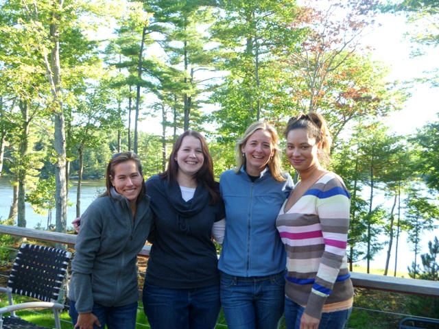 On the deck of the house we rented - Nan, Steph, me, and Heidi.