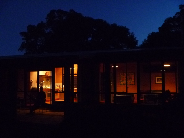Burnside Bungalow at night