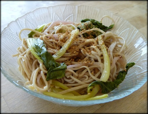 Bok Choy and Soba Noodles