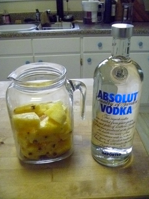 Pineapple-infused vodka