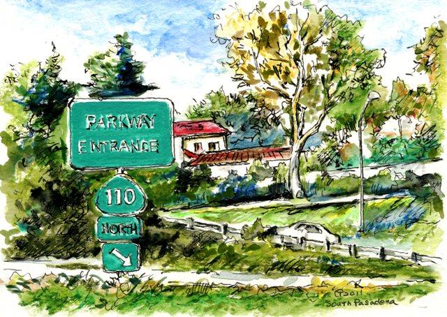 110 Parkway Watercolor