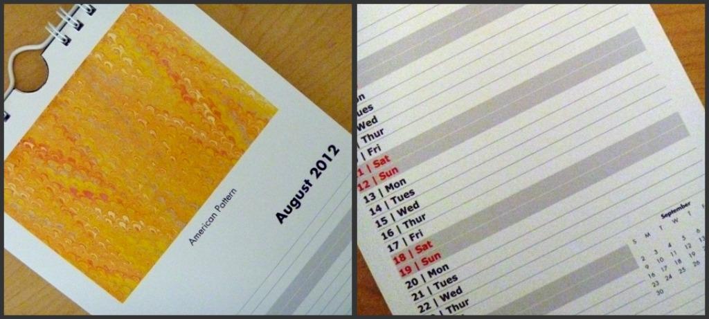 Calendar Close Ups