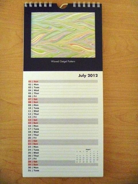 Marbling Calendar