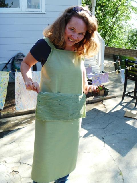 Fabric marbilng