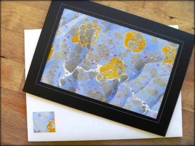 Note Cards featuring Marbled Paper