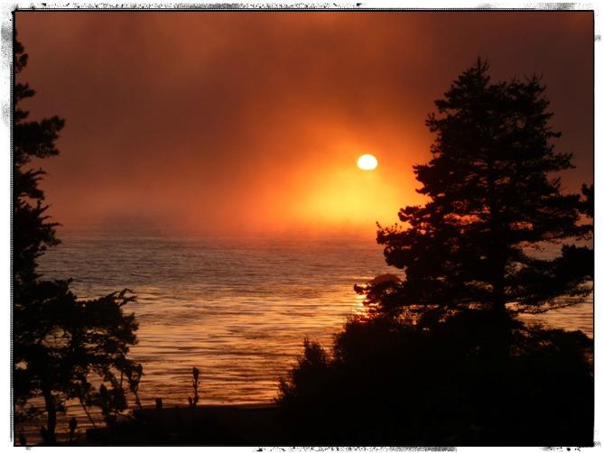 Sunset over Esalen