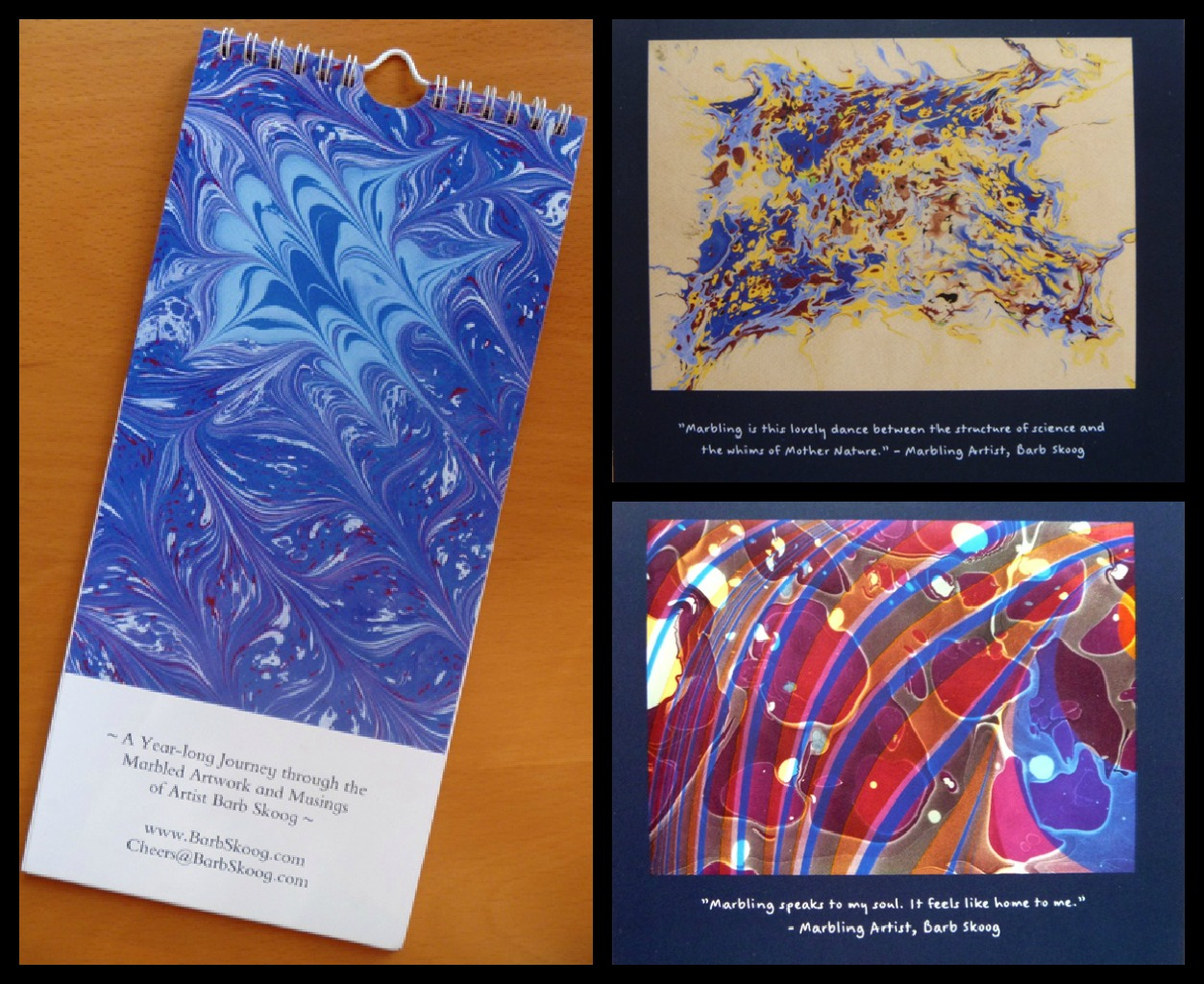 A year-long journey through the marbled artwork and mustings of artist Barb Skoog.