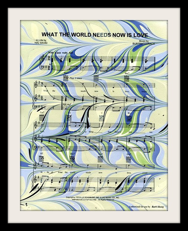 Marbled Sheet Music for Mary