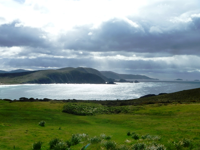 Lighthouse Bay on Bruny Island (Tasmania)
