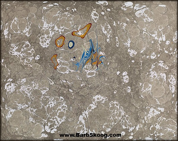 Marbled Paper ~ from the Amoeba Series by Barb Skoog