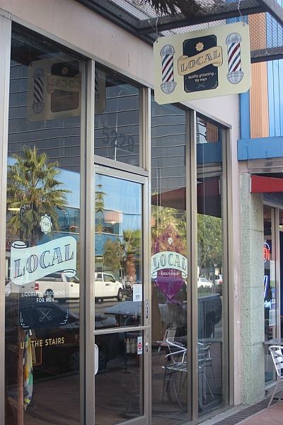 "The Local Salon in North Hollywood ~ home to the first exhibit of my extra marbled large pieces (26"" x 40"")."