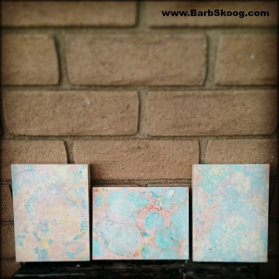 Marbled Wood Panels by Ebru Artist Barb Skoog